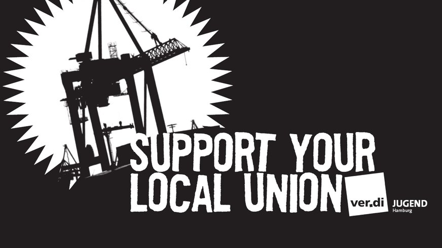 Logo Support your local union